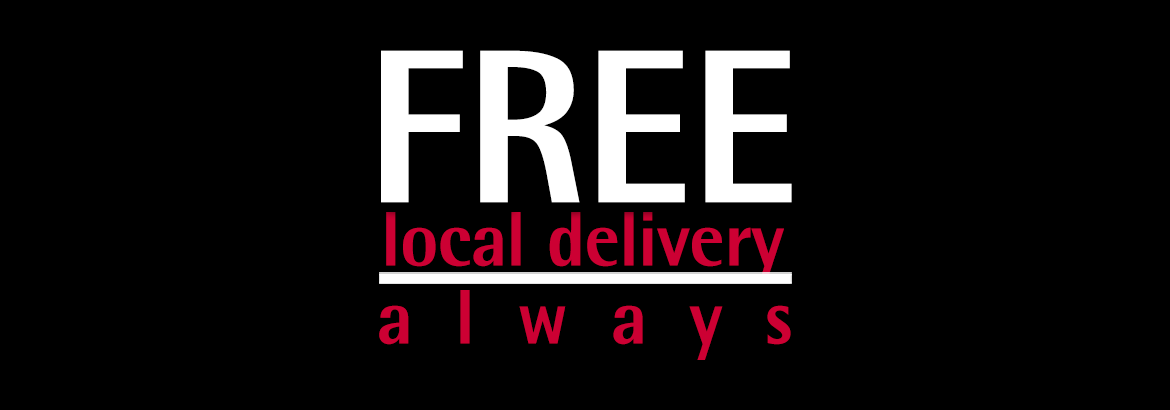 Free Local Delivery Banner